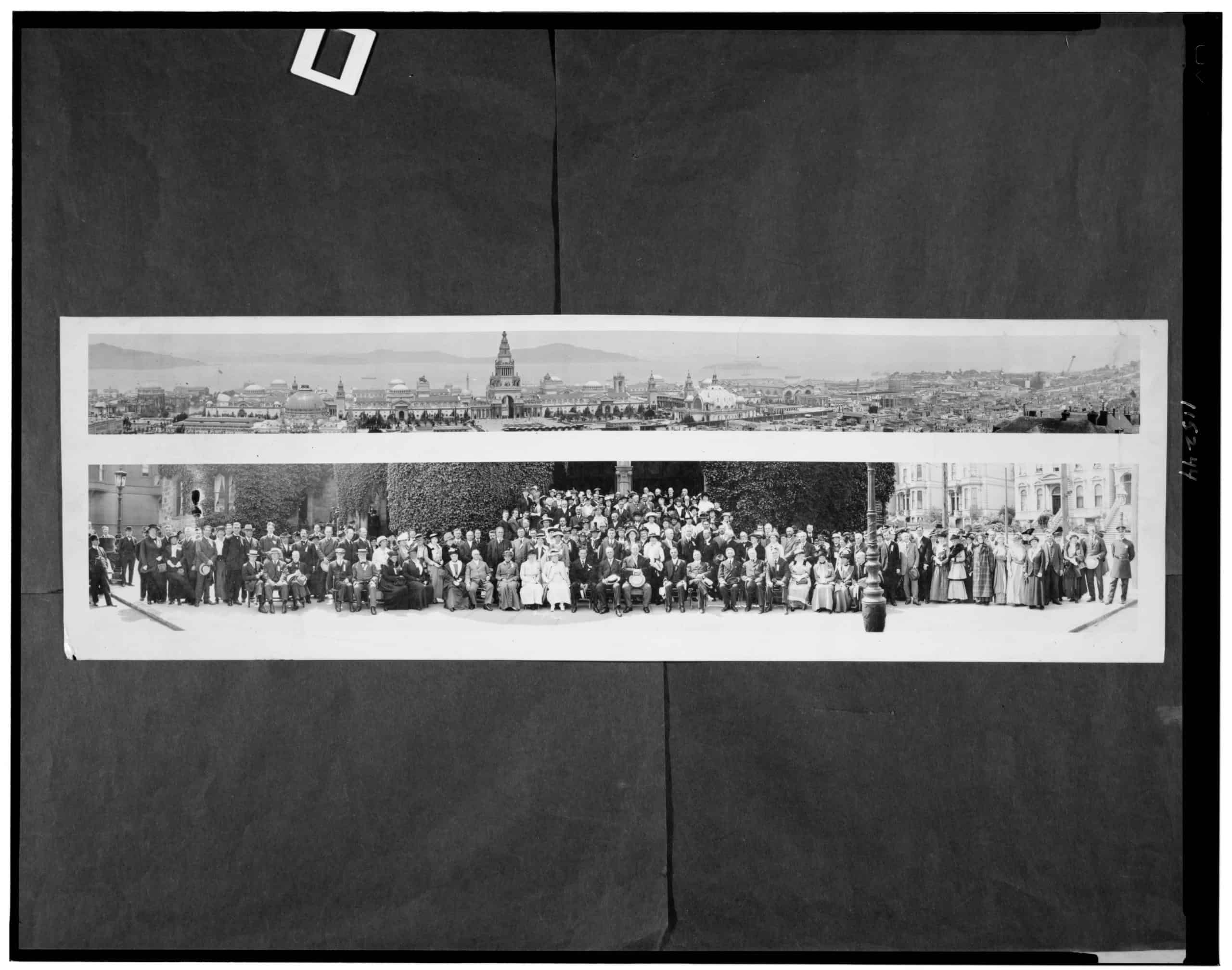 Panama-Pacific exposition, general view and group portrait, R. F. Sanford, 1915