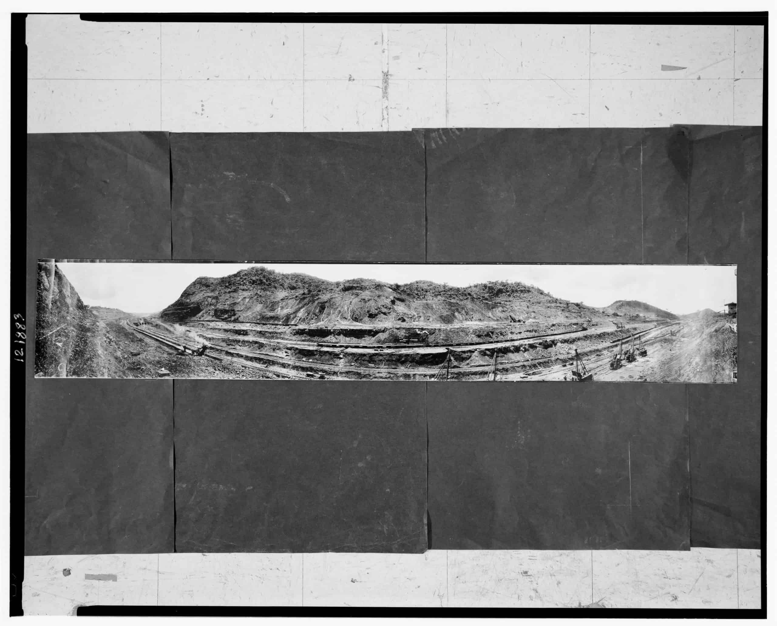 Construction of Panama Canal, May be Culebra Cut, ca 1913