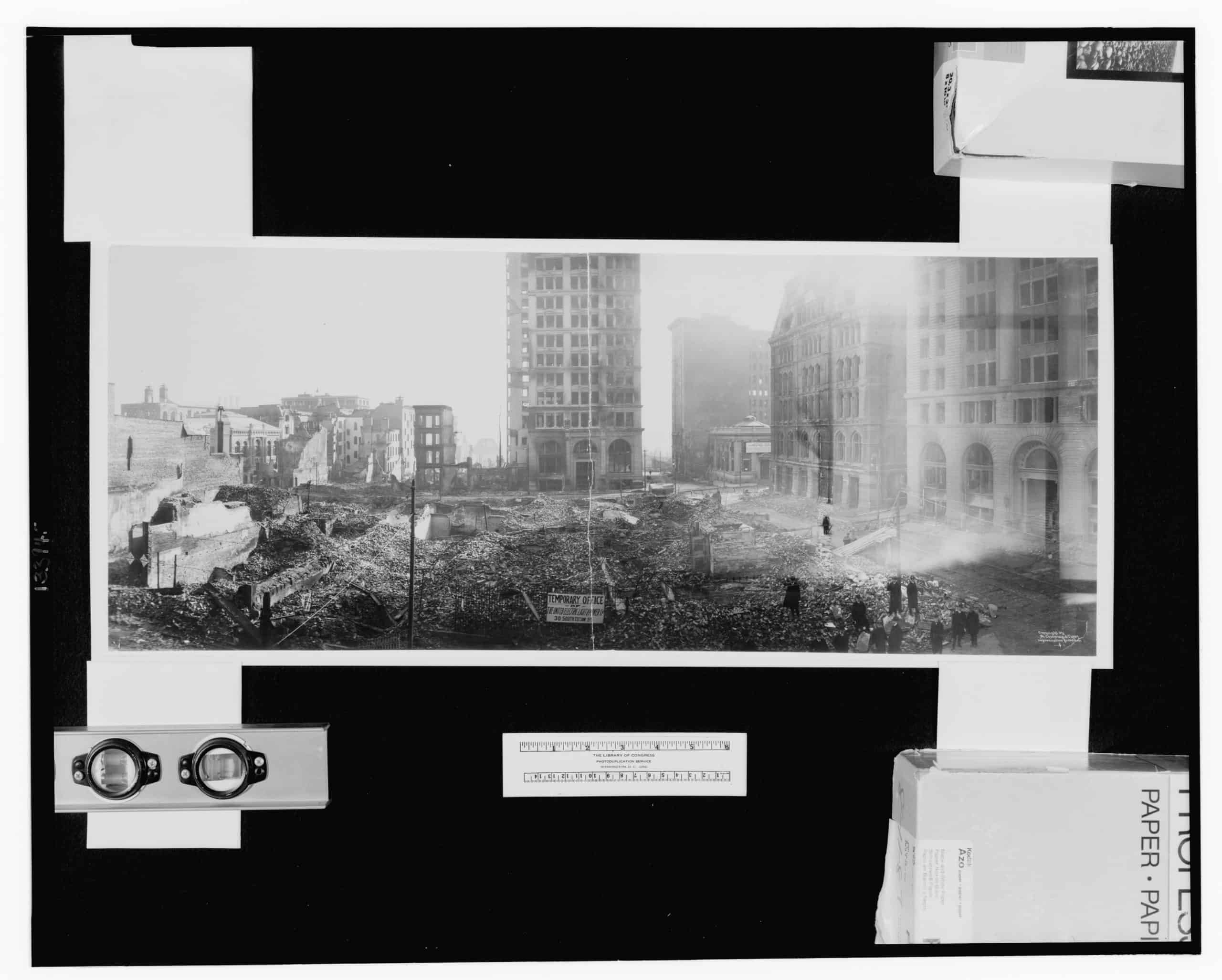 Panoramic photograph of Baltimore fire, E. Chickering & Co., ca 1904