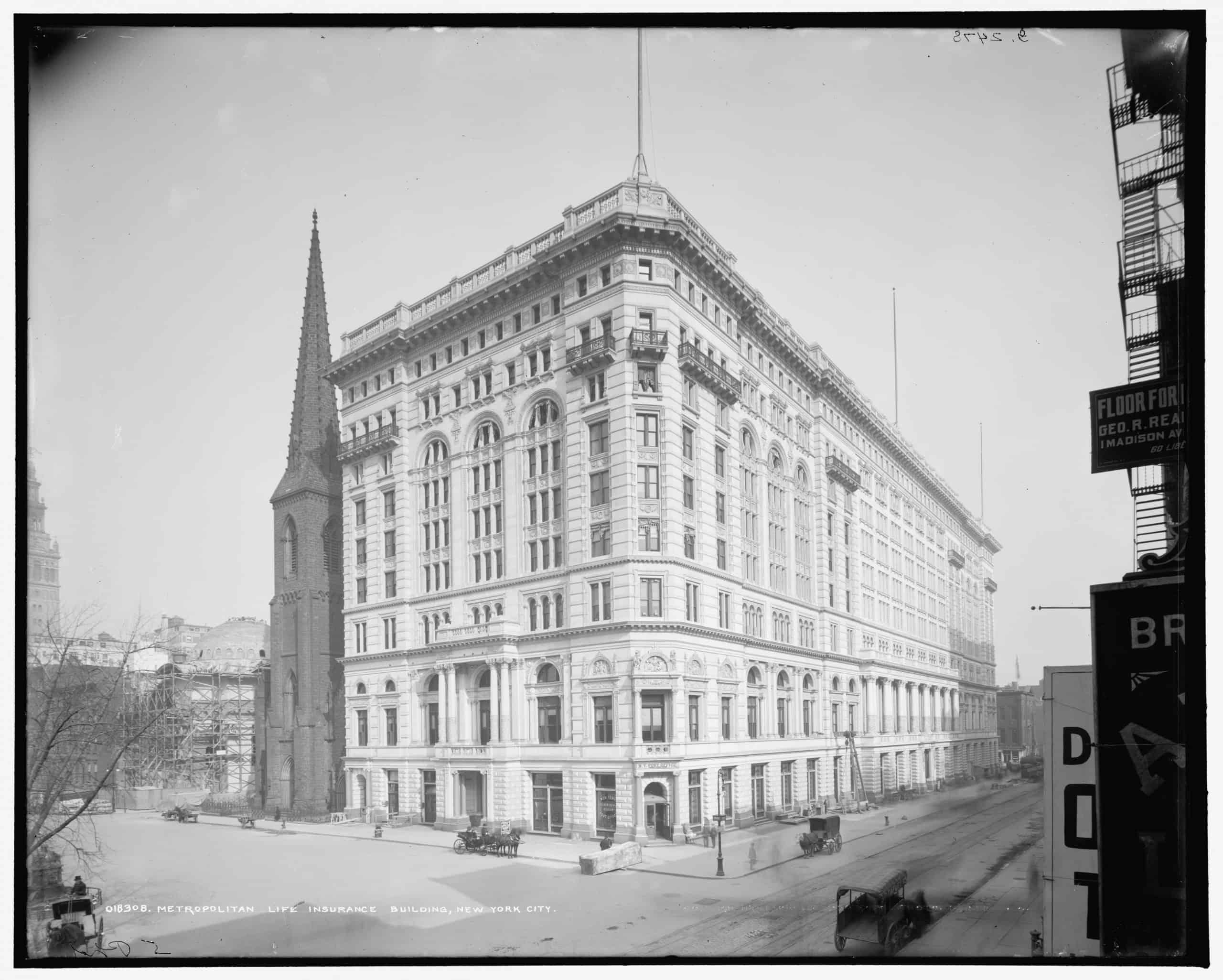Metropolitan Life Insurance Building, New York City,  Detroit Publishing Co., ca. 1905.