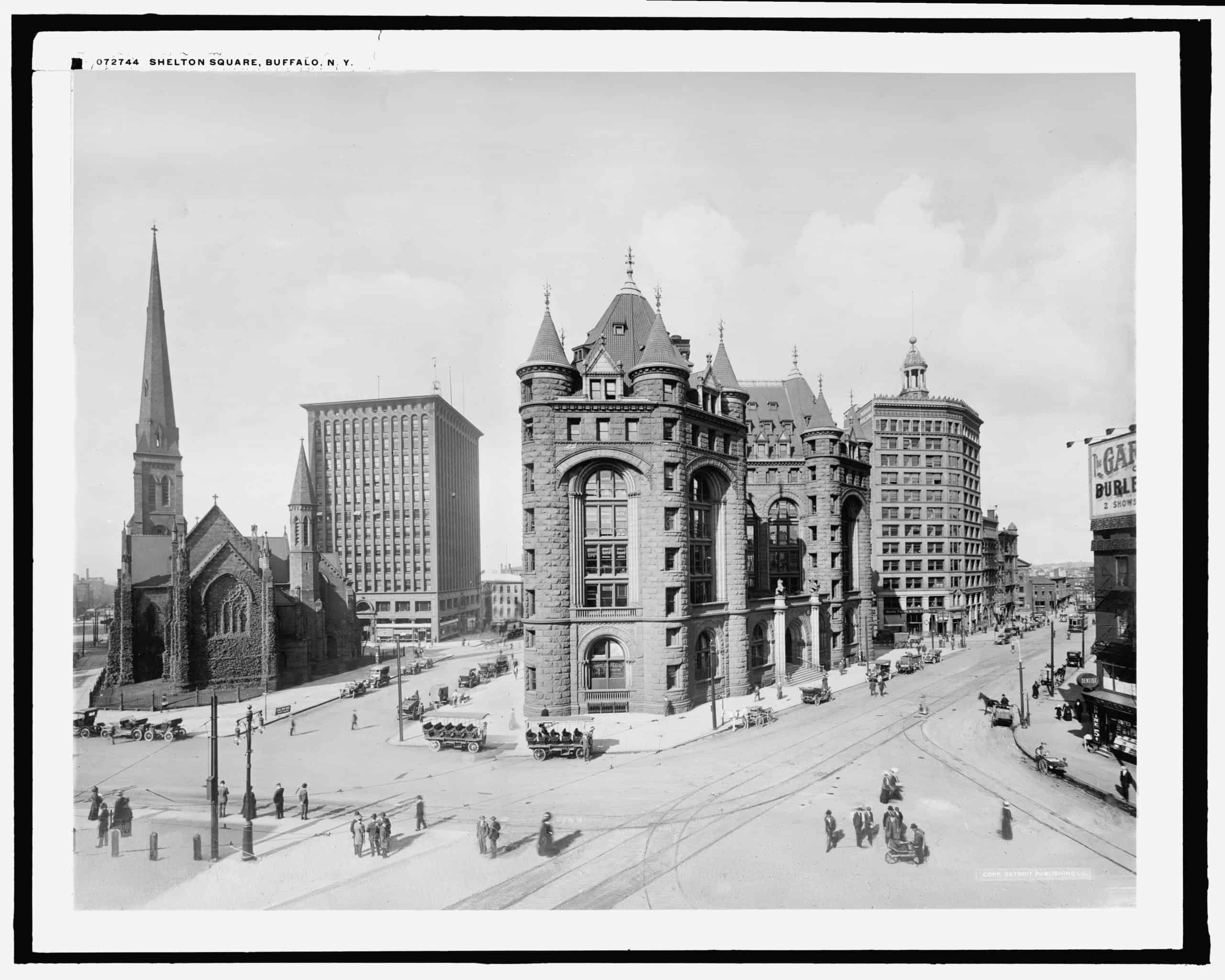Shelton Square, Buffalo, N.Y., Detroit Publishing Co., between 1900 and 1920