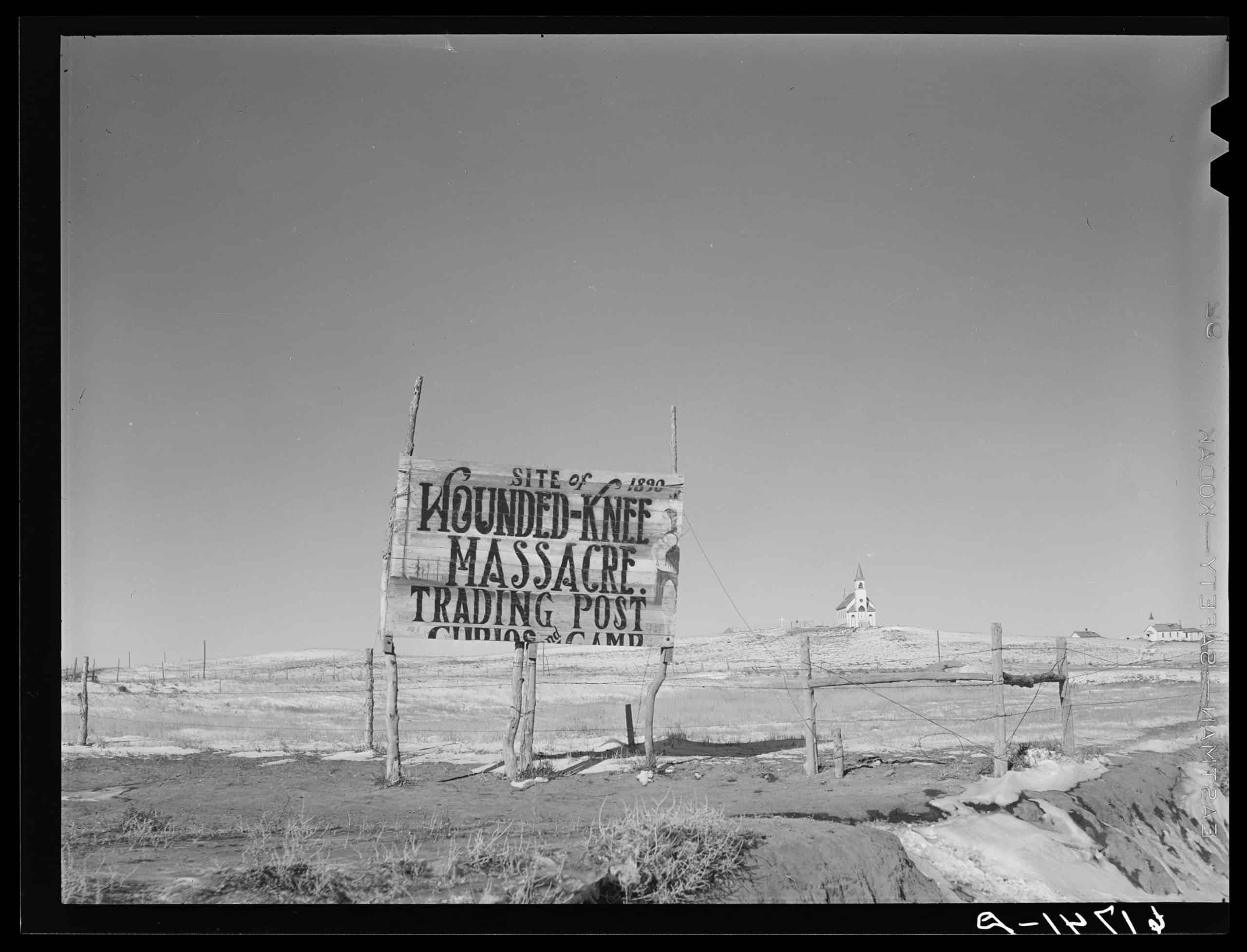 Church at Wounded Knee, South Dakota, John Vachon, 1940