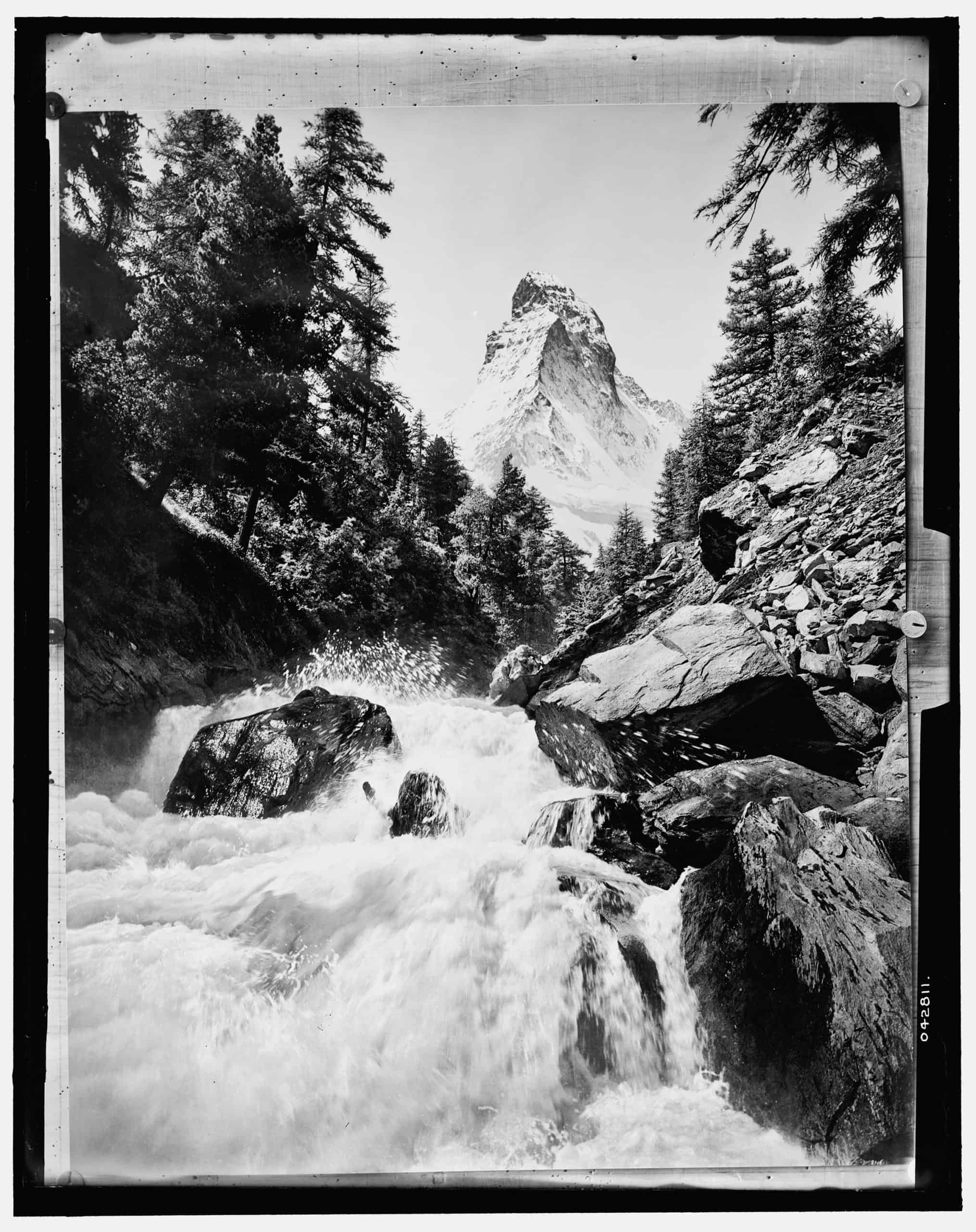 Rushing stream and Matterhorn, Alps. Detroit Publishing Co., between 1900 and 1910